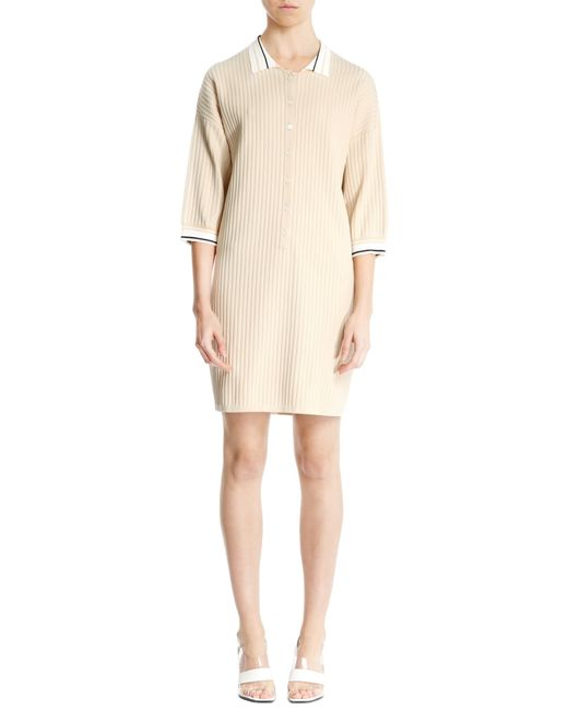 Nicole Farhi | Natural Knitted Polo Dress | Lyst