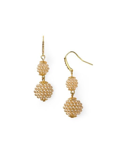 Carolee | Metallic Double Drop Earrings | Lyst