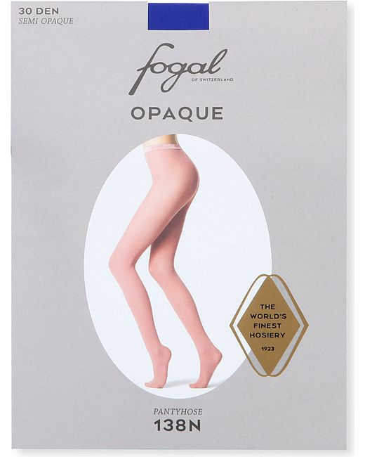 Fogal | White Opaque Tights | Lyst