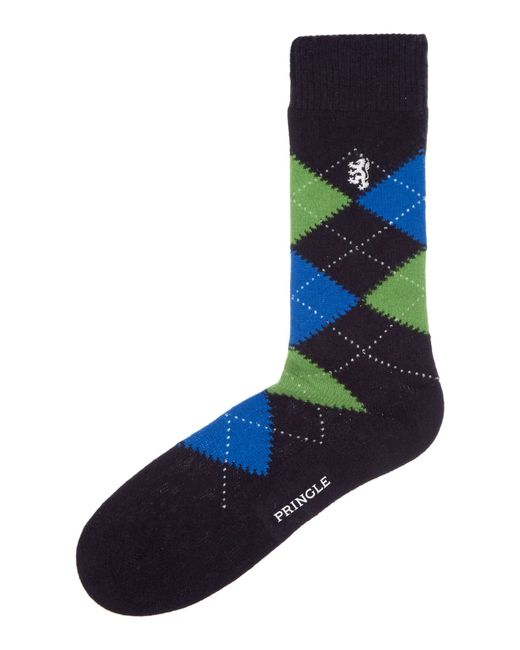 Pringle of Scotland | Blue Plain Dress Socks for Men | Lyst