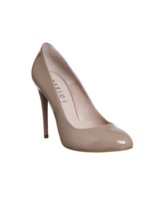 office ace toe court shoes in pink lyst