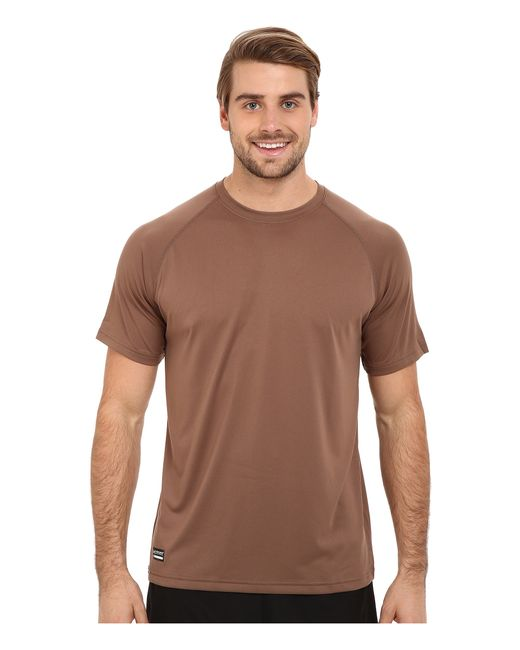 Under armour ua tac tech tee in brown for men army brown for Under armour brown t shirt