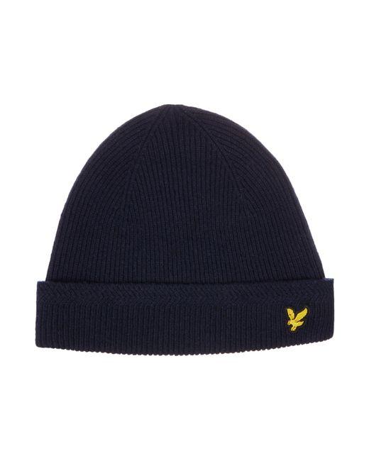 Lyle & Scott | Blue Classic Racked Rib Beanie Hat for Men | Lyst