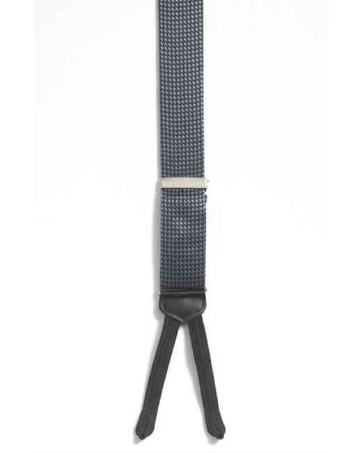 Trafalgar | Black 'weybridge' Formal Suspenders for Men | Lyst