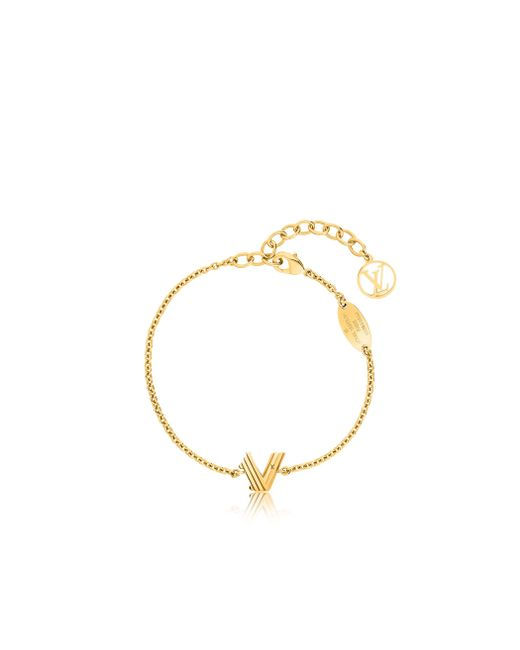 Louis Vuitton   Metallic Lv & Me Bracelet, Letter V   Lyst