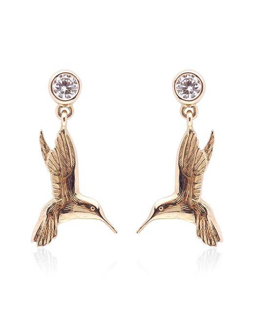 Theo Fennell | Metallic Hummingbird Drop Earrings | Lyst