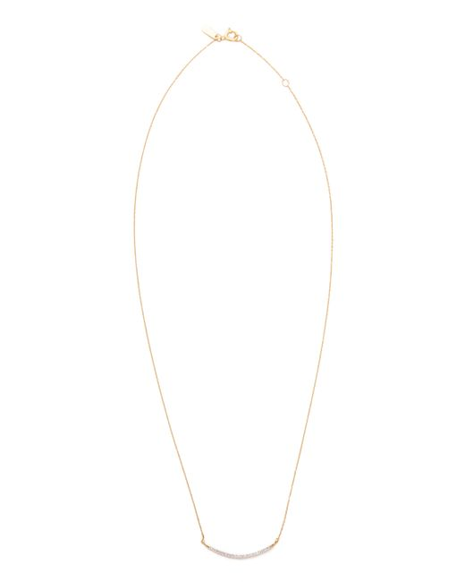 Adina Reyter   Metallic Large Pave Curve Necklace   Lyst