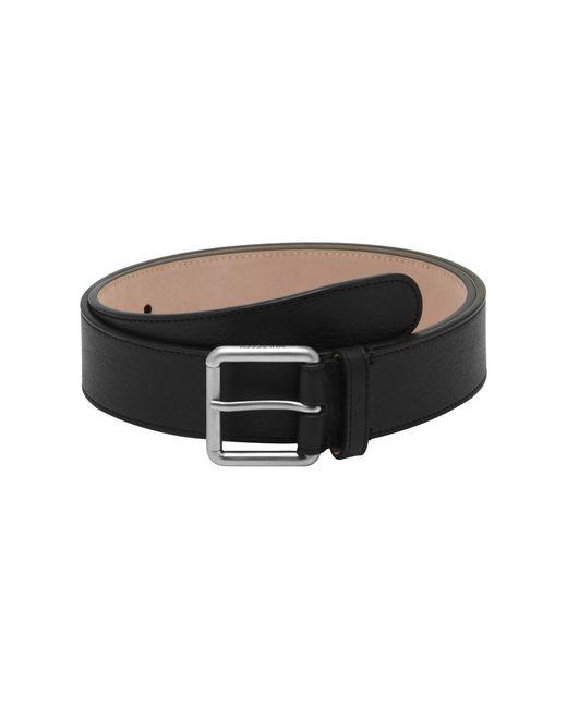 mulberry wide buckle belt in black lyst