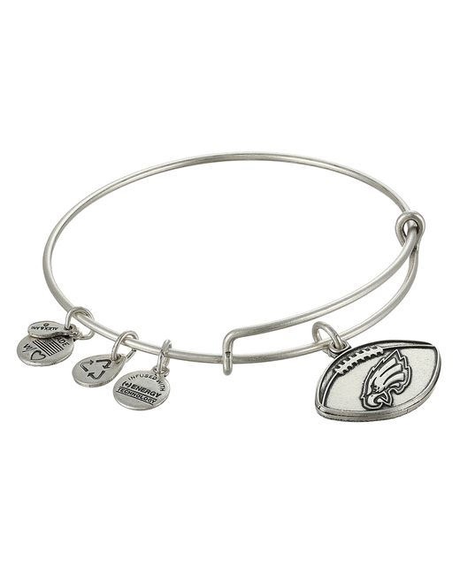 ALEX AND ANI | Metallic Philadelphia Eagles Football Charm Bangle | Lyst