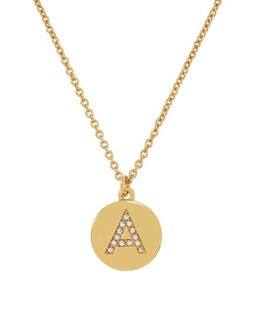 kate spade pave initial pendant in gold n lyst