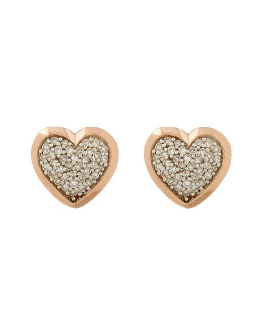 Links of London | Metallic Diamond Essentials Pavã© Diamond Heart Earrings | Lyst