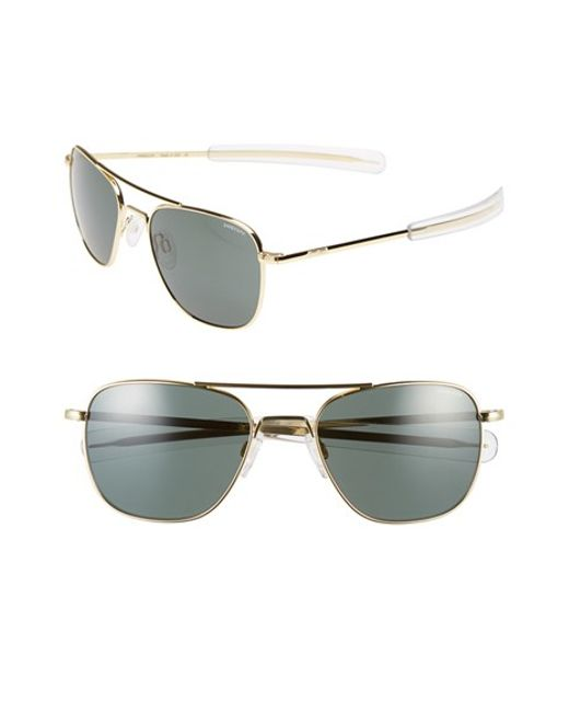 Randolph Engineering   Metallic 55mm Aviator Sunglasses   Lyst