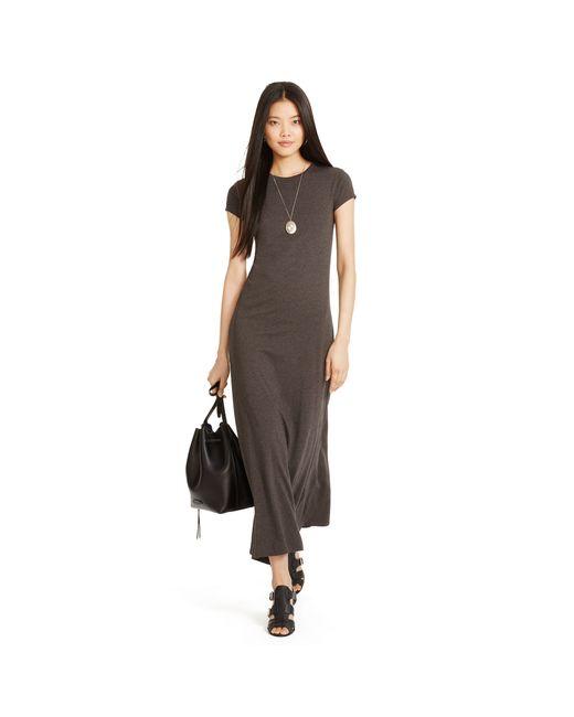 Polo Ralph Lauren | Gray Cotton Jersey Maxidress | Lyst