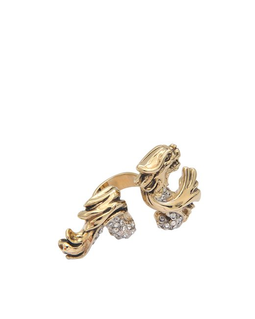 Roberto Cavalli   Metallic Chameleon Swarovski Ring   Lyst