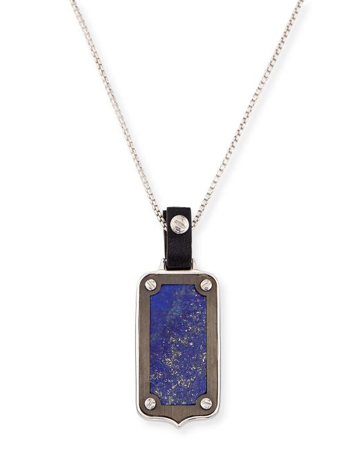Stephen Webster | Blue Men's Leather-pendant Necklace for Men | Lyst
