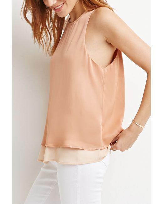 Forever 21 | Orange Layered Trapeze Top | Lyst