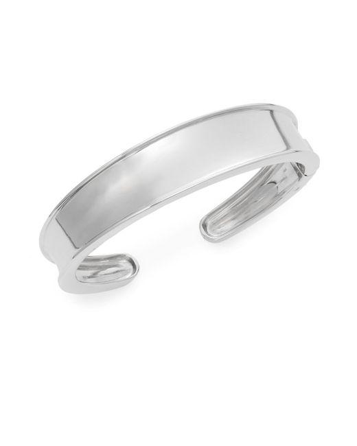 Saks Fifth Avenue | Metallic Sterling Silver Open Cuff Bracelet | Lyst