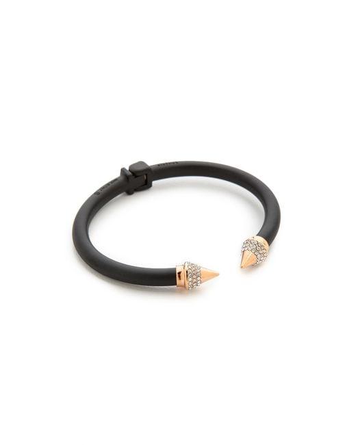 Vita Fede | Black Mini Titan Two Tone Crystal Bracelet | Lyst
