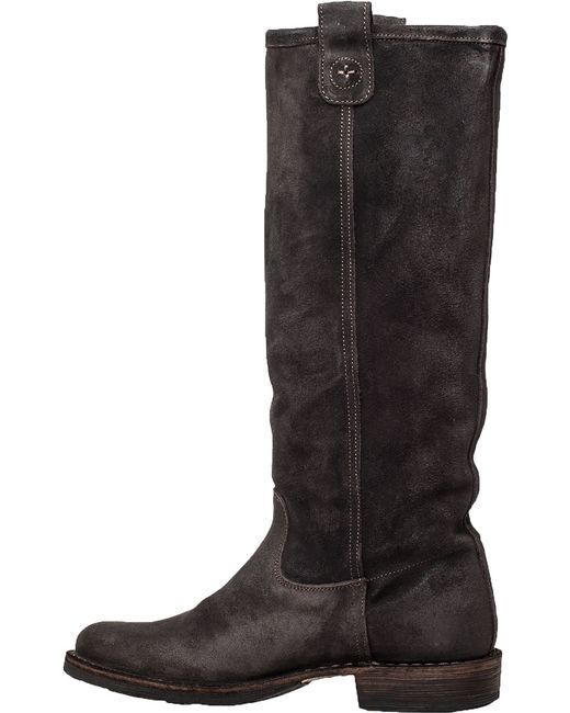Fiorentini + Baker | Brown Eternity Effie Grey Suede Pull-on Boot | Lyst