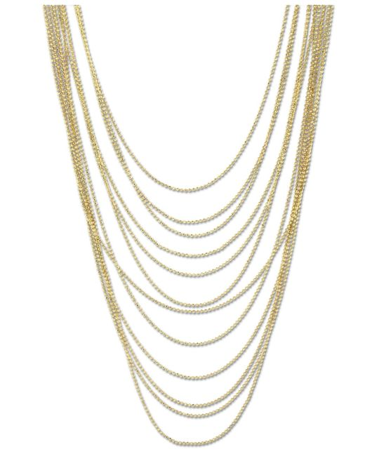 2028 | Metallic Gold-tone Multi-row Chain Necklace | Lyst