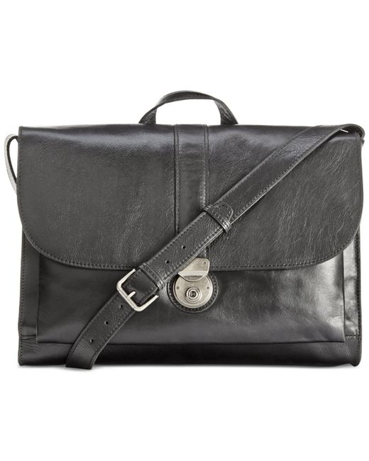 Patricia Nash | Black Nash By Men's Heritage Leather Messenger Bag | Lyst
