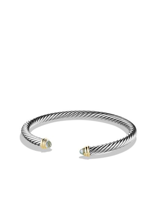 David Yurman | Metallic Cable Classics Bracelet With Prasiolite And 14k Gold, 5mm | Lyst