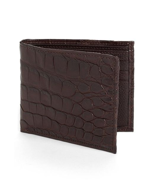 Martin Dingman | Brown 'jameson' Matte Finish Genuine Alligator Billfold for Men | Lyst