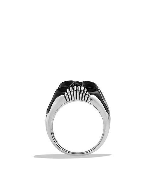 David Yurman | Carved Skull Ring With Black Onyx for Men | Lyst