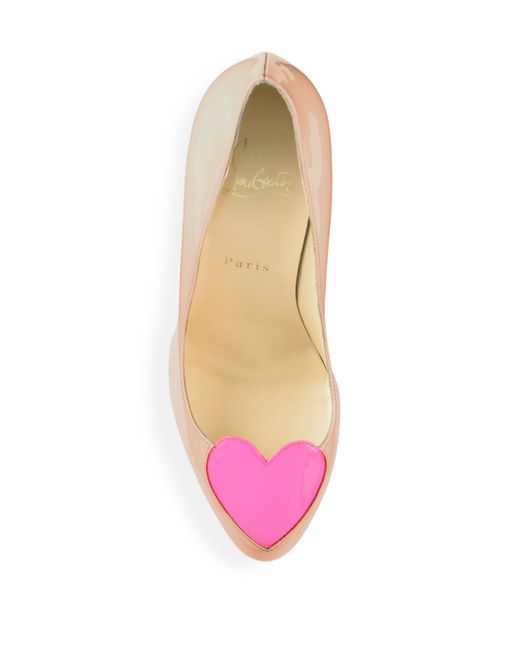 christian louboutin leopard mens shoes - Christian louboutin Doracora Heart Patent Leather Pumps in Pink ...