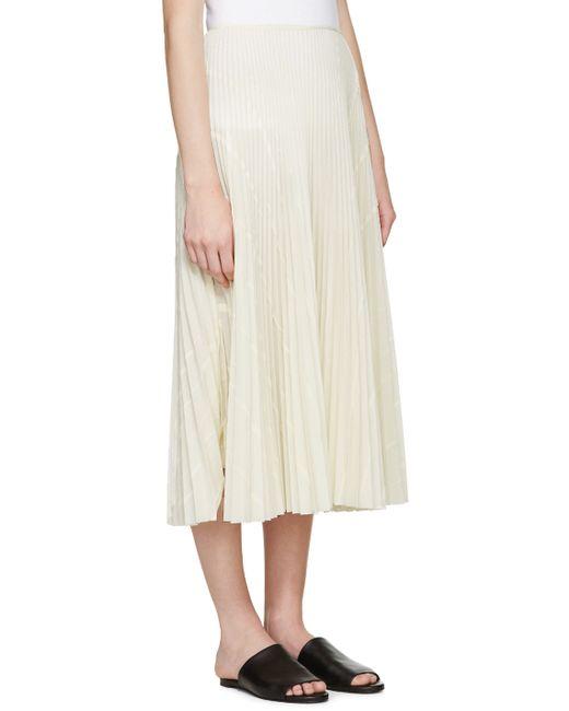 Cream Pleated Skirt 14