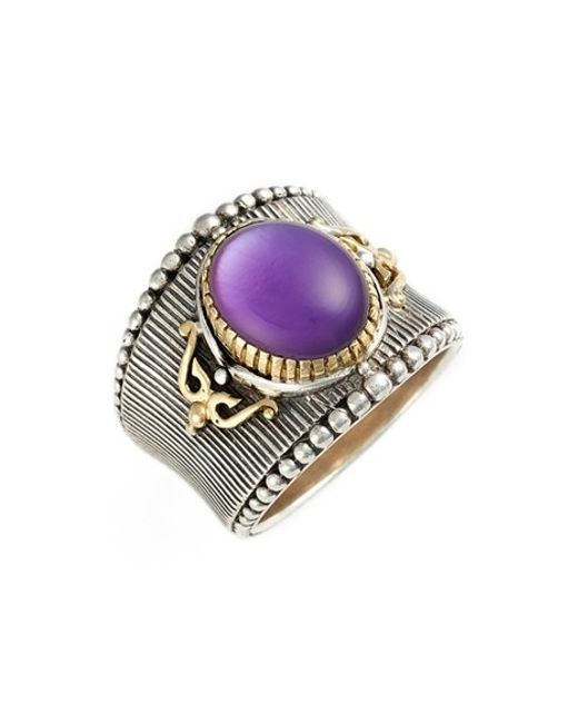 Konstantino | Purple 'erato' Oval Stone Ring | Lyst