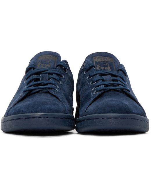 adidas originals stan smith suede sneakers blue in blue for men save 31 lyst. Black Bedroom Furniture Sets. Home Design Ideas