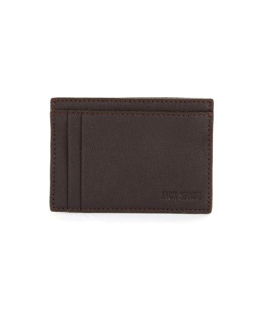 Jack Spade | Brown Varick Leather Id Card Case for Men | Lyst