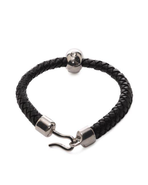 Alexander McQueen | Black Skull Leather Bracelet | Lyst