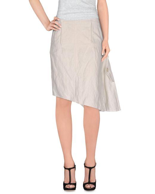 Collection Privée | White Knee Length Skirt | Lyst