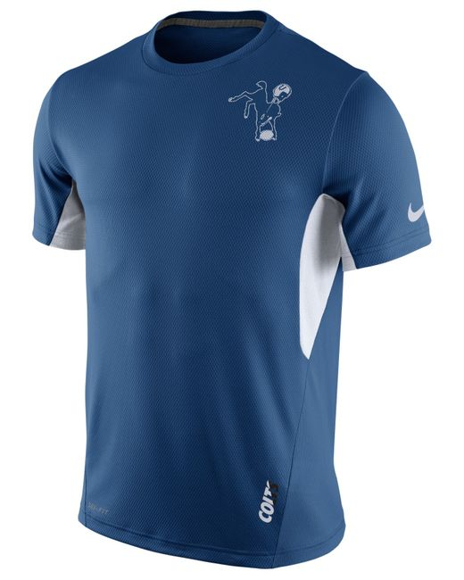 Nike men 39 s indianapolis colts vapor t shirt in blue for for T shirt printing indianapolis