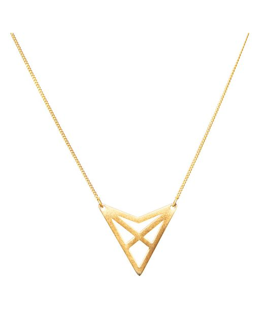 Dutch Basics | Metallic Hef Fine Chain Necklace Rose Gold | Lyst