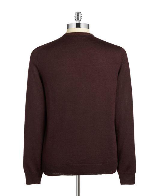 Calvin Klein | Brown Merino Blend Sweater for Men | Lyst
