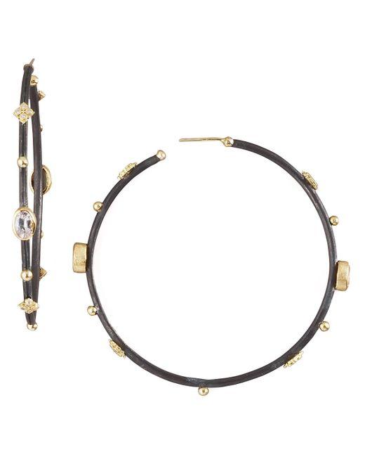 Armenta | Black Sapphire Hoop Earrings | Lyst