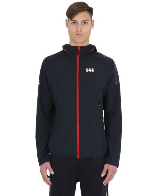 helly hansen hp softshell sailing jacket in blue for men navy save 21 lyst. Black Bedroom Furniture Sets. Home Design Ideas