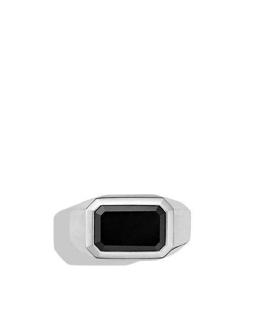 David Yurman | Metallic Heirloom Streamline Signet Ring With Black Jade for Men | Lyst