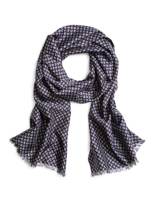 Brooks Brothers | Blue Paisley Silk Scarf for Men | Lyst