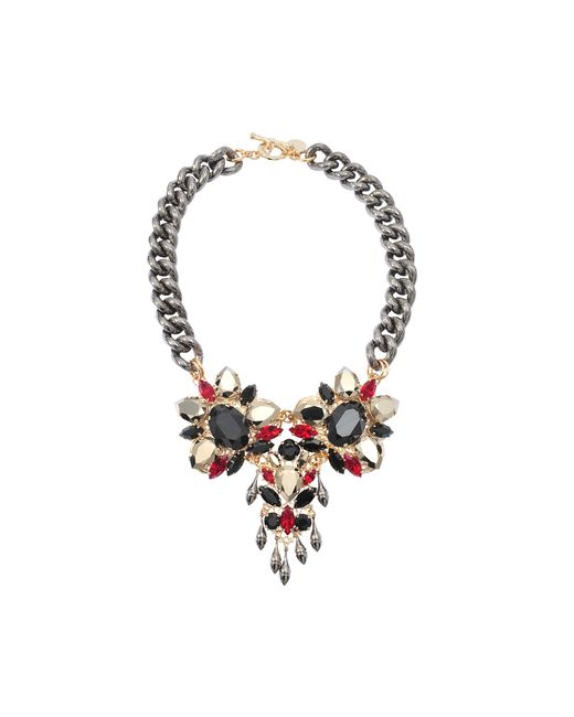 Anton Heunis   Multicolor Triple Crystal Exclusive Necklace   Lyst