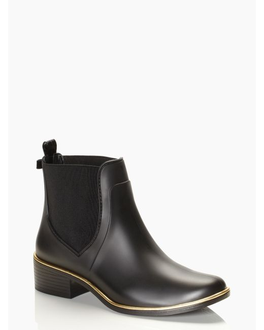 kate spade new york | Black Sedgewick Rain Boots | Lyst