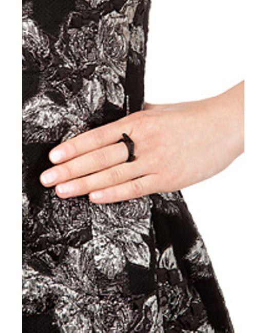 Lynn Ban | Black Rhodium-plated Silver Jagged Knuckle Ring A | Lyst
