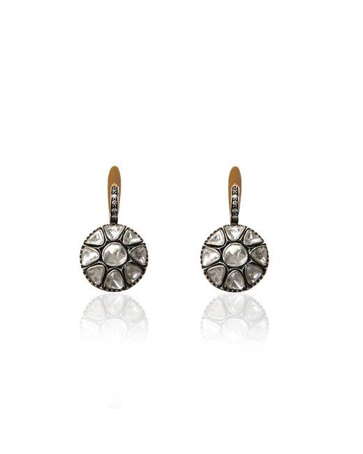 Sanjay Kasliwal | Multicolor Large Diamond Drop Earrings | Lyst