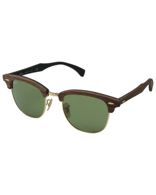 Ray-Ban   Brown Unisex Rb3016 51mm Clubmaster Sunglasses   Lyst