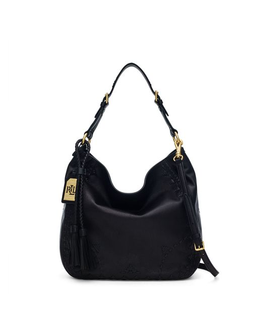 Ralph Lauren | Black Medium Faux-leather Abby Tote | Lyst