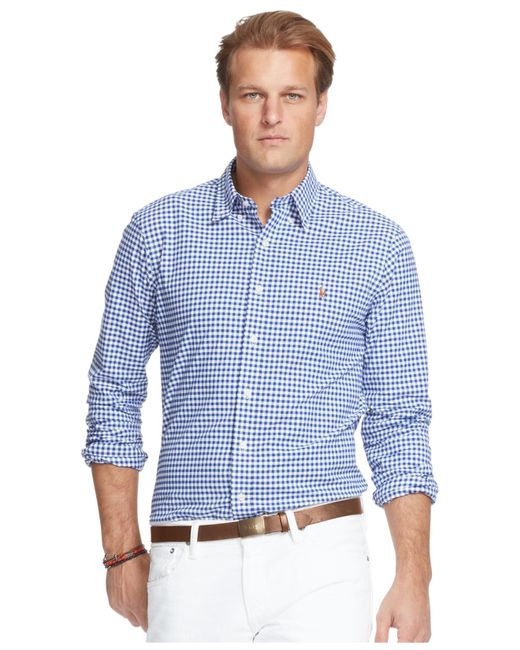 Polo ralph lauren men 39 s big and tall stretch oxford shirt for Big and tall oxford shirts