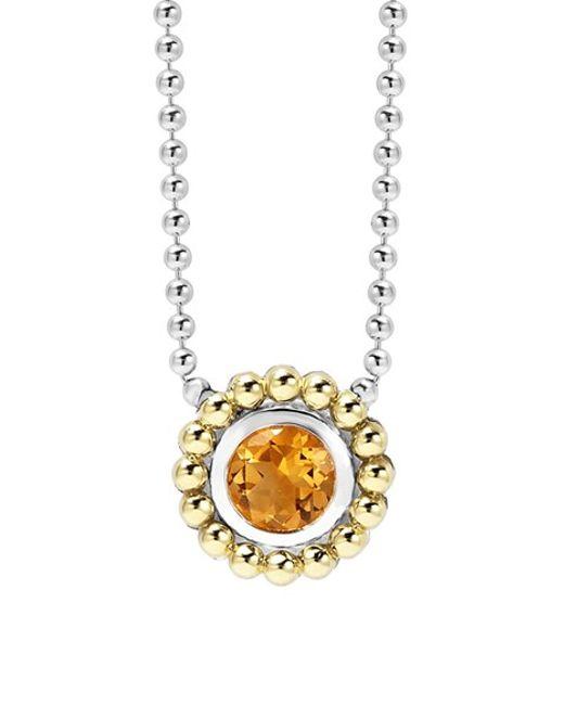 Lagos | Orange Stone Pendant Necklace | Lyst